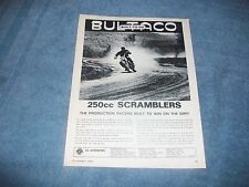 """1965 Bultaco 250cc Scramblers Vintage Ad """"Production Racers Built to Win on Dirt"""
