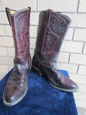 Vintage Men's Mason 11 D Burgundy Cowboy Boots