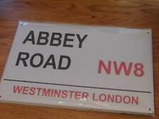 FABULOUS METAL STREET SIGN WALL PLAQUE ABBEY ROAD WESTMINSTER LONDON NW8