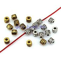 50pcs Metal Tube Spacer Beads Charms for Jewelry Making Necklace Bracelet DIY