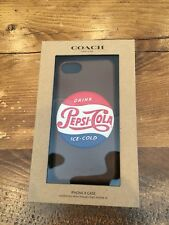 Coach x Pepsi Leather iPhone 8 Case Fits iPhone 7 and 6s - F27332 NWT