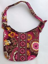 Vera Bradley Carnaby Shoulder Bag Purse Floral Quilted Pink Purple Yellow Brown