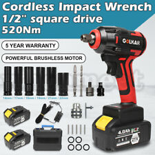12 Square 520nm Drive Lithium Ion Cordless Impact Wrench Withgun Charger Battery