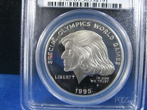 1995-P SILVER $1 COMM SPECIAL OLYMPIC  PCGS PROOF 69 DEEP CAMEO