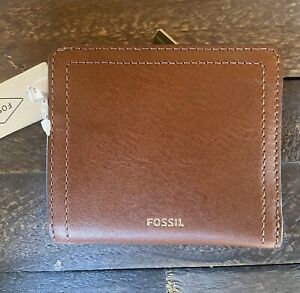 New with Tags, Fossil Logan RFID Small Bifold in Brown