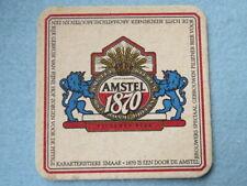 Vintage DUTCH Beer Coaster: AMSTEL Brewery Pilsener Bier Since 1870; NETHERLANDS