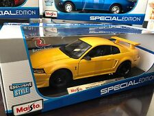 SALE- Exclusive Maisto 1:18 Scale Diecast Model- 2000 Mustang SVT Cobra (Yellow)