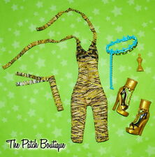 MONSTER HIGH CLEO DE NILE DOLL DELUXE GOLD SHOPPING FASHION PACK OUTFIT W/ SHOES