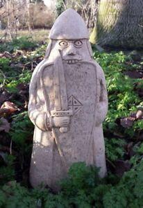 Large Cast Stone Lewis Chess Chessman Berserker Garden Ornament