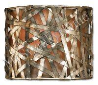 Alita Light METAL BASKETWEAVE Sconce NEIMAN MARCUS Wall Fixture Luxe HORCHOW