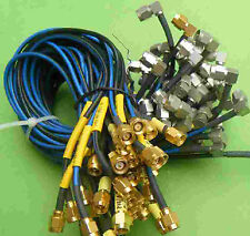 1pcs SUHNER SMA Male to SMA Male Right Angle 90° 6GHz RF Cable, Length 25cm E0D