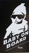 FUNNY COOL BABY ON BOARD STICKER