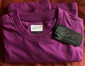 Men's Purple  Greg Norman T shirt  Size S 100%cotton