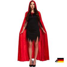 DA ROT SAMT VELVET UMHANG cape Halloween Fasching Verkleiden Zaubererin Hexe