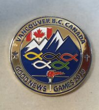 2010 VANCOUVER GOOD NEWS MEDIA RADIO STATION OLYMPIC WINTER GAMES PIN