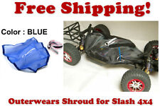 Traxxas Slash 4X4 ESC Receiver Chassis Shroud by Outerwears 20-2601-02 BLUE