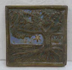 Contemporary Scenic Tile with Tree Arts & Crafts