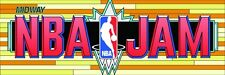 NBA Jam Arcade Marquee For Reproduction Midway Backlit Sign