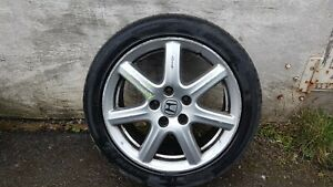 HONDA ACCORD MK8 2008-2012 ALLOY WHEEL WITH TYRE 225/45ZR17 SOME DAMAGE