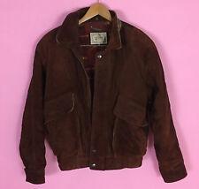 Vintage Brown Suede Leather Levi's Jacket Medium Zip Up Westernwear MadeinKorea