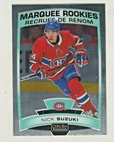 2019-20 OPC Platinum MARQUEE ROOKIES NICK SUZUKI RC Rookie Montreal Canadiens