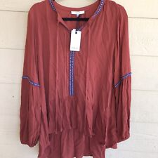 New RO&DE  Women's Boho Style Top shirt  Size Large Hi- Low