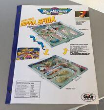 Vintage PAPER EXCLUSIVE# GALOOB MICRO MACHINES SUPER PISTA# DOPPIA SFIDA