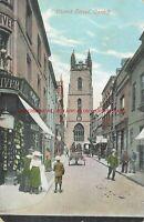 Wales Cardiff Church Street Vintage Postcard 12.10