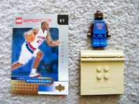 LEGO Basketball - Rare NBA Jerry Stackhouse, Detroit Pistons #42 w/ Gold Card