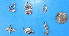 6pcs Tibet Silver Pendants LOT #5 Mixed Crafts Jewelry Making Charms