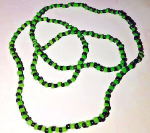 ORISHAS Necklace Yoruba Beads Ifa Santeria  Elekes COLLARES Oggun Green/Black