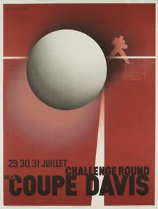 A.M. CASSANDRE Coupe Davis (Restrike) 35.75 x 27 Lithograph 1980 Vintage Red, Gr