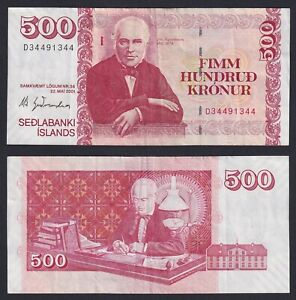 Islanda 500 kronur 2001 BB+/VF+  A-02