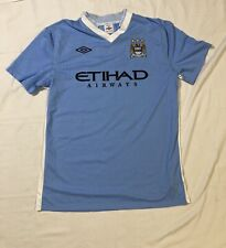 Etihad Airways Manchester Fc Futbol Soccer Long Sleeve Jersey Blue 44 Large