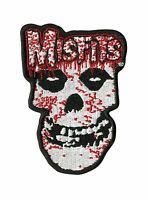 OFFICIAL LICENSED - MISFITS - BLOODY SKULL SEW ON IRON ON PATCH PUNK