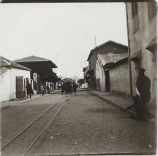 Gambie ? Train Chemin de Fer Afrique Photo Plaque de verre Stereo Positive D2