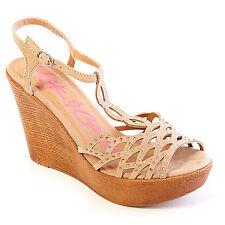 ZIGI Rock & Candy shoes Rubi Fashion Wedge Heel Sandals Size 8.5 M nude
