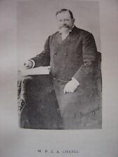Portrait Phototypie Albert Charles Pierre CHATEL   Saint-Georges-des-Groseillers