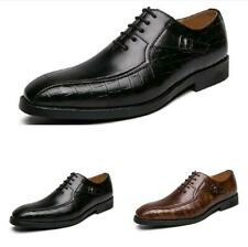 Mens Low Top leisure Faux Leather Shoes Business Work Office Lace up Oxfords L