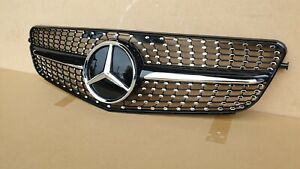 DIAMOND GRILL GRILLE LOOK BLACK CHROME FOR MERCEDES C CLASS W204 2008 2012