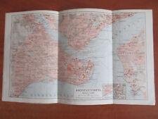 OLD MAP  KONSTANTINOPEL TURCJA KONSTANTYNOPOL PLAN MIASTA ROK 1895
