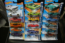 15 x ASSORTED 1/64 HOT WHEELS AMERICAN MUSCLE TYPE 60s & 70s CARS MIXED CARDS F