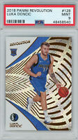 Luka Doncic Dallas Mavericks 2018 Panini Revolution Rookie Card RC #128 PSA 9