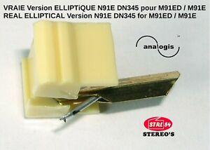 Stylet HQ diamant ELLIPTIQUE pour SHURE M91ED N91ED N91E DUAL DN345 DM103_M-E
