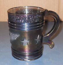 VTG IMPERIAL GLASS PURPLE MUG PRESZNICK'S CARNIVAL GLASS MUSEUM 1969 EAGLE STARS
