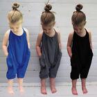 Toddler Kids Baby Girls Summer Strap Romper Jumpsuit Harem Pants Outfits Pockets