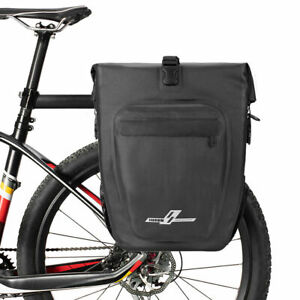 Bike Pannier Bag  Rear Rack Waterproof Cycling Bicycle Touring Trunk Bag 30L UK