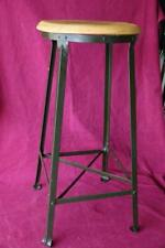 rare antique industrial Angle Steel Co. stool with foot rest