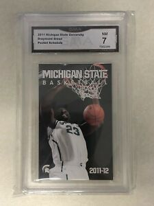Draymond Green 2011 2012 Michigan State Spartans Pocket Schedule Rookie Card RC