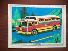 VTG VENUS PARADISE COLOR BY NUMBERS MOTOR BUS PICTURE
